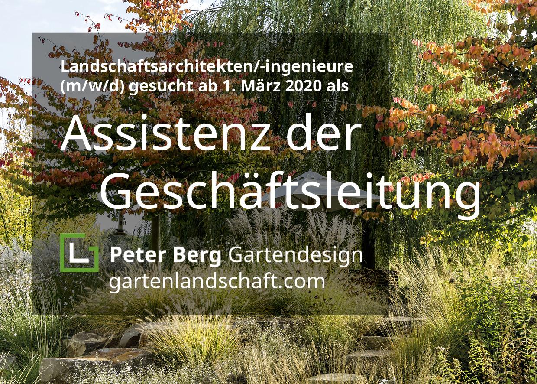 Aushang von Peter Berg mit der Suche nach Geschäftsleitungsassistenz