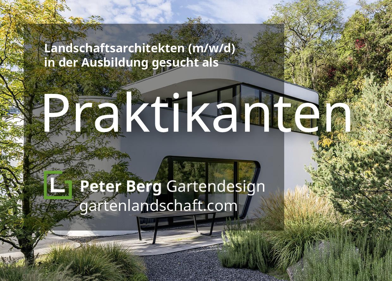 Aushang von Peter Berg mit Suche nach Praktikanten