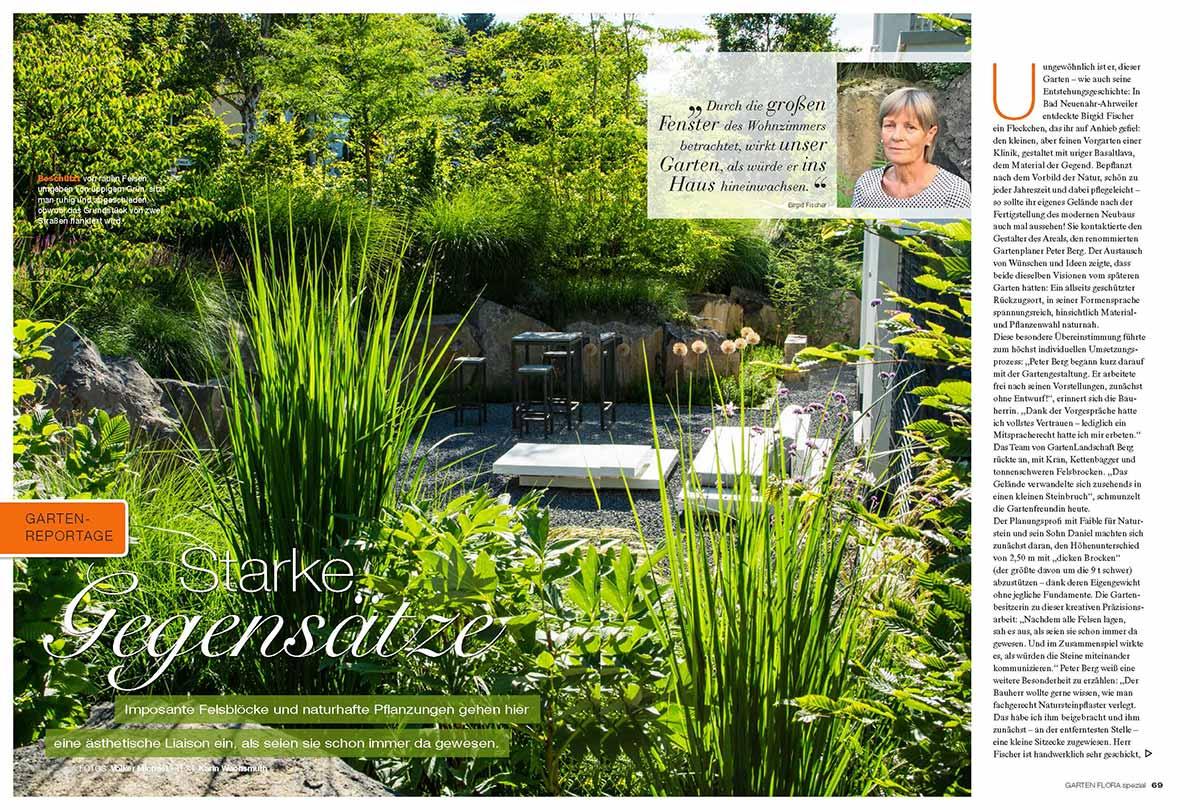 Titel des GartenFlora-Magazins von März 2019, in dem Peter Berg spricht