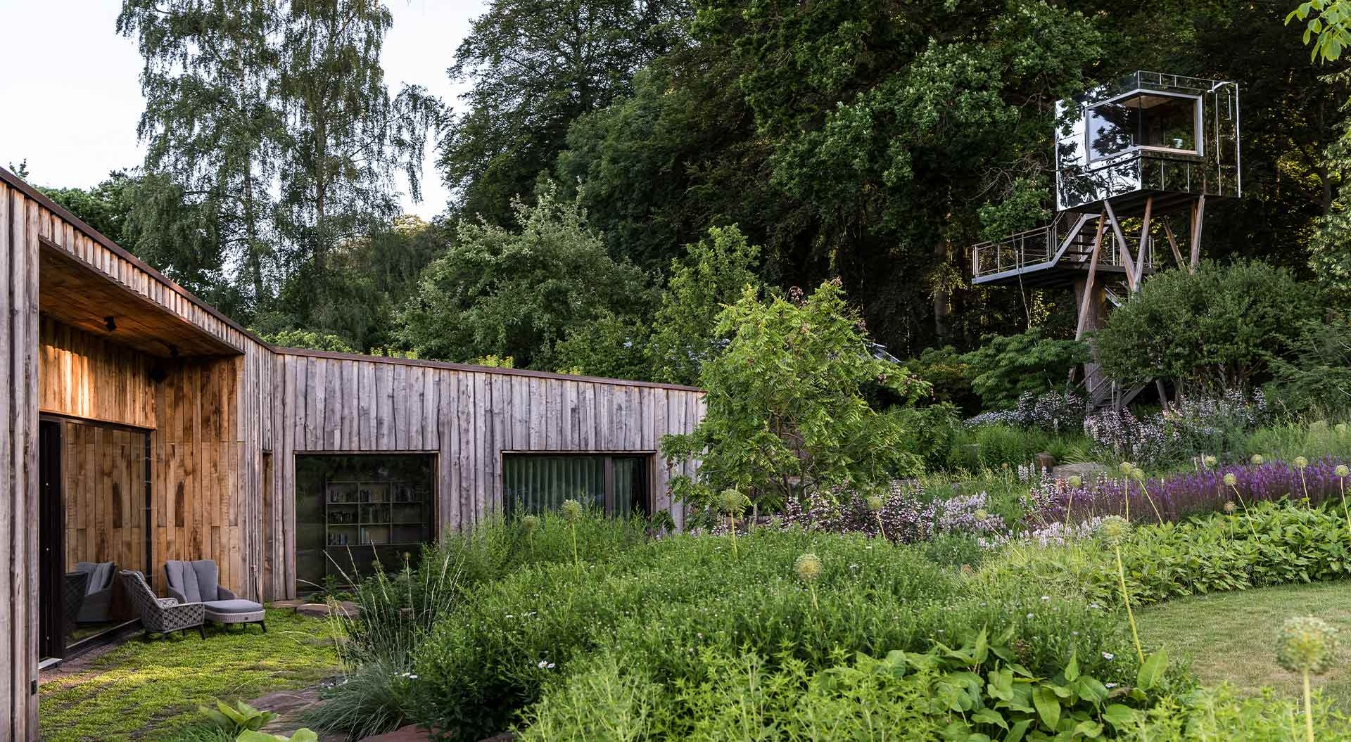 Flowers, plants, shrubs and trees provide for a varied garden