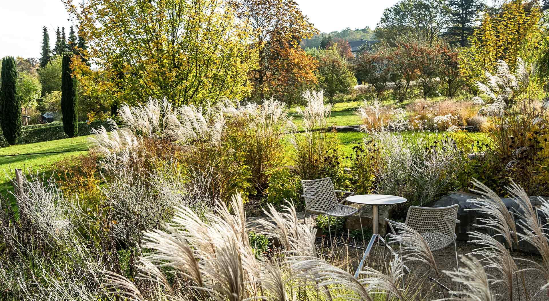 Monastery garden lovingly designed by Peter Berg