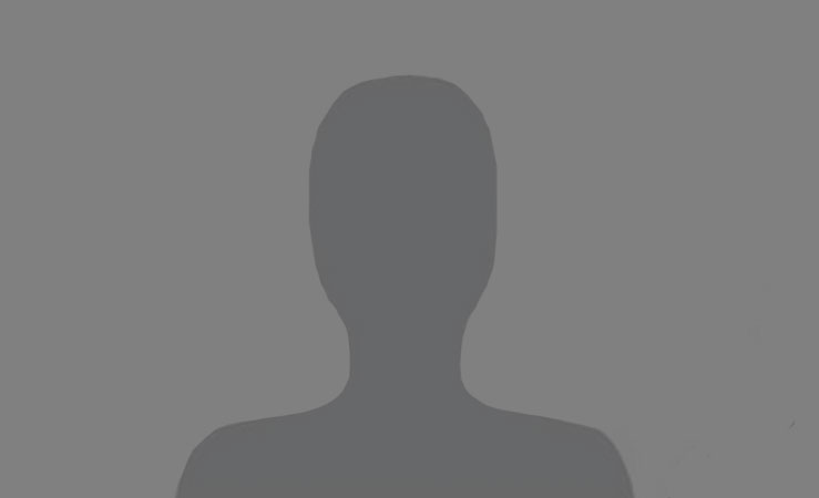 Silhouette of a male employee